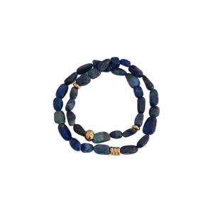 Middle of The Night Bracelet - lapis lazuli bracelet - gemstone bracelet - blue bracelet - Manola jewelry
