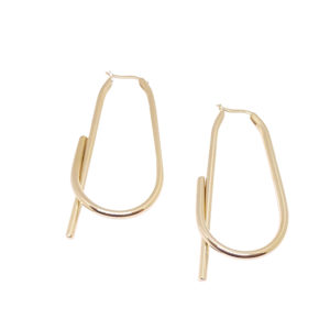 Out of Line Earrings - gold hoop earrings - statement gold earrings - Manola jewelry