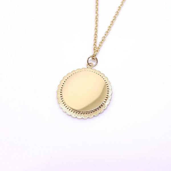 Looking for you Necklace - gold coin necklace - coin necklace - layered necklace - Manola jewelry