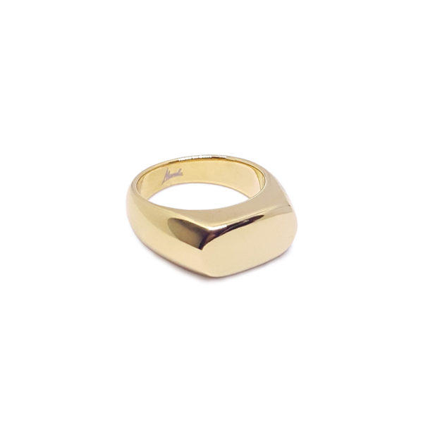 Domina ring - signet ring - statement signet ring - statement gold ring - bold gold ring - Manola jewelry