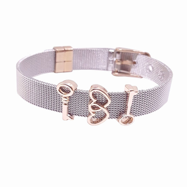 Hug Me Bracelet - braided bracelet - metal braided bracelet - friendship braided bracelet - Manola jewelry
