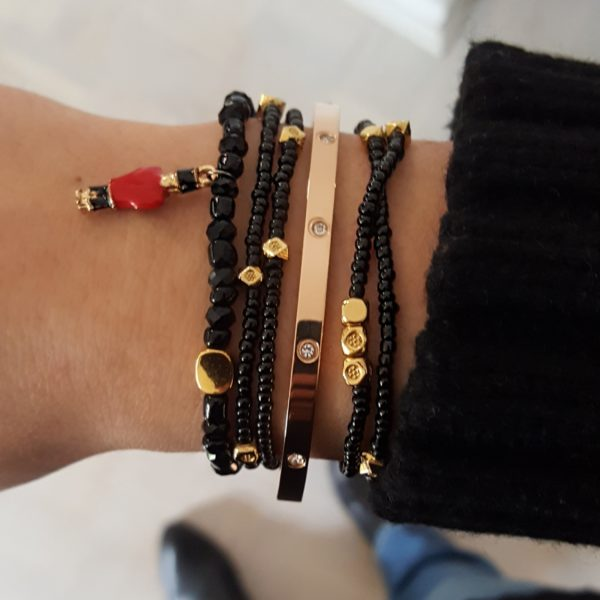 Stacking Bracelets - gold stacking bracelets - fashion bracelets - gold bangle bracelets - Manola jewelry