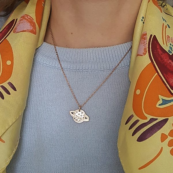 Rose gold necklaces - planet charm necklace - layered necklace - Manola jewelry