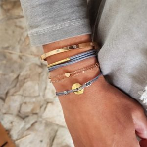 Stacking bracelets - stacking fashion bracelets - stacked gold bracelets - Manola jewelry