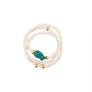 Come In Waves Bracelet - white bracelet - turquoise bracelet - Manola jewelry