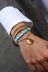 Turquoise for fall/winter season - turquoise jewelry - turquoise necklace - gold necklace - fashion jewelry - unique design jewelry - red string bracelet