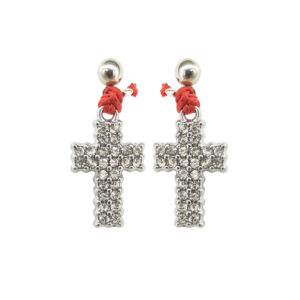 All The Time Earrings - cross charm earrings - statement earrings - lucky earrings - Manola jewelry