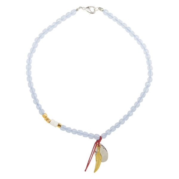 Cover Me Sky Necklace - pastel necklace - summer 2019 necklace - red string necklace - lucky necklace - Manola jewelry