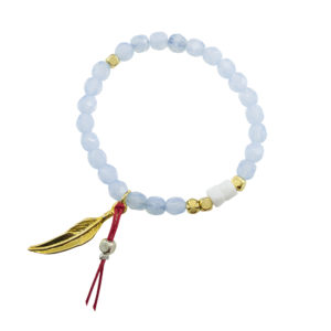 Cover Me Sky Bracelet - lucky red string bracelet - spring summer 2019 statement bracelet - feather charm bracelet - italian design jewelry - Manola jewelry
