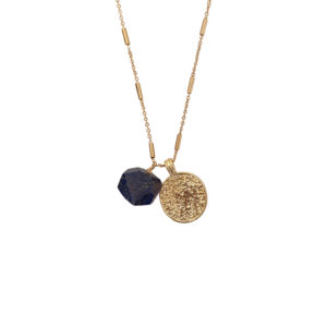 Deep Peace Necklace 1 - gold coin necklace - Manola jewelry