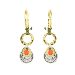 Dido Orange Earrings - orange earrings - spring summer 2019 earrings - statement earrings - Manola jewelry