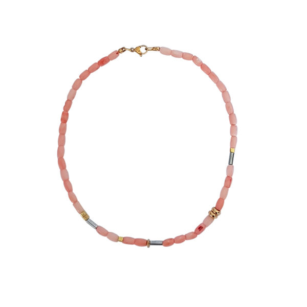 Feel Alive Necklace - pink coral necklace - pink coral necklace - coral jewelry - Manola jewelry
