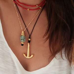 Stacking gold necklaces - gold necklaces - statement necklaces - Manola jewelry