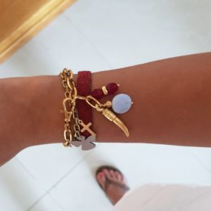 Chain bracelets with charms - statement bracelets - colorful bracelets - horn charm bracelets - Manola jewelry