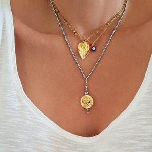 Fashion necklaces - layered necklaces look - gold necklaces style - Manola jewelry