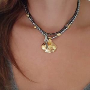 antic necklaces - coin necklaces - charm necklaces - layered look necklaces - Manola jewelry