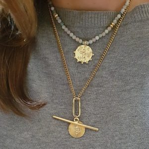 Coin necklaces - gold chain necklaces - layered necklaces look - Manola jewelry
