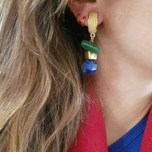 Stylish earrings for 2021 - gemstone earrings - lapis earrings - gold earrings - stylish earrings - Manola jewelry