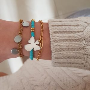 stacking stylish bracelets - gold charm bracelets - chain bracelets - Manola jewelry