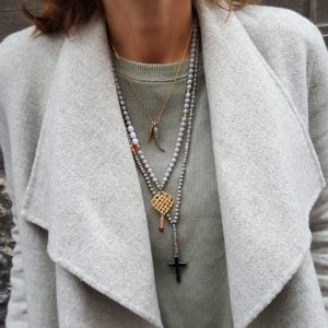 Statement necklaces by Manola jewelry - statement necklaces for spring summer 2019 - cross charm necklace - Manola jewelry