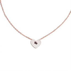 Loved By You Necklace - heart charm necklace - rose gold heart necklace - Manola jewelry