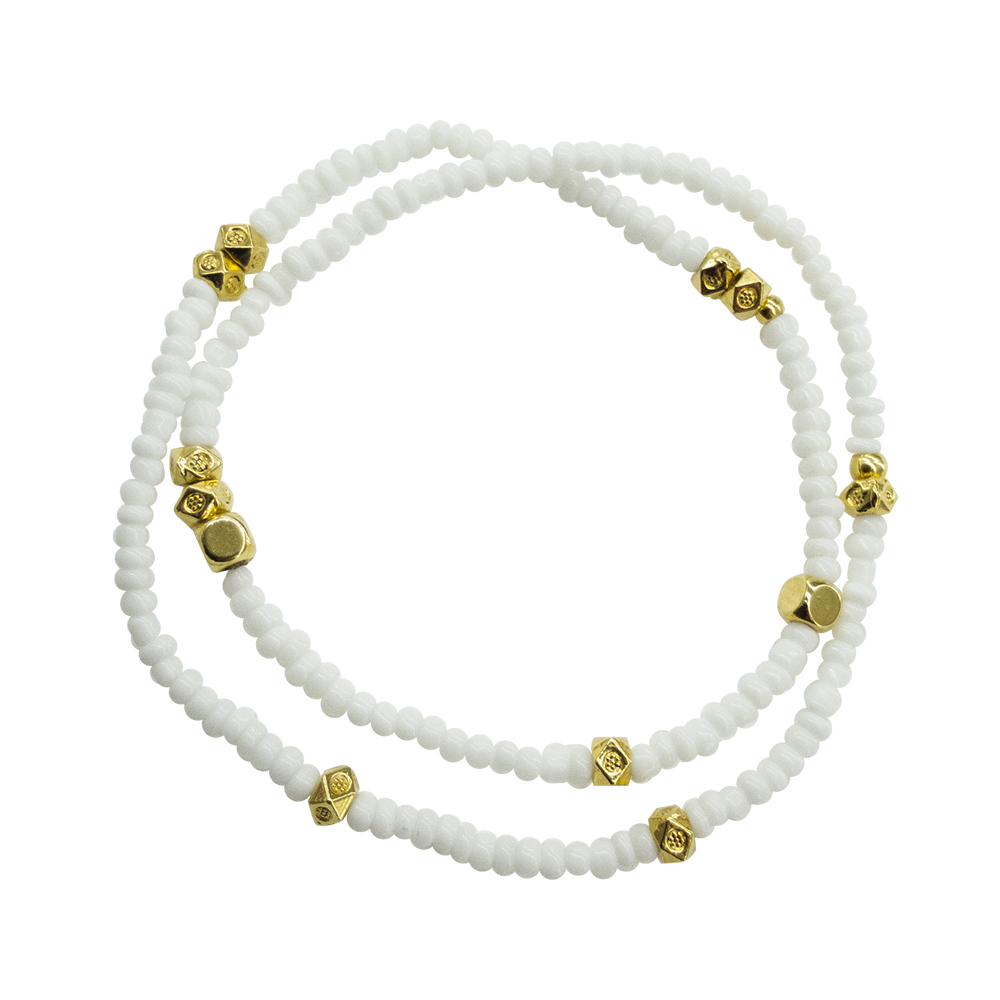Make A Wish White Bracelet - statement 2019 bracelet - spring summer 2019 bracelet - Manola jewelry