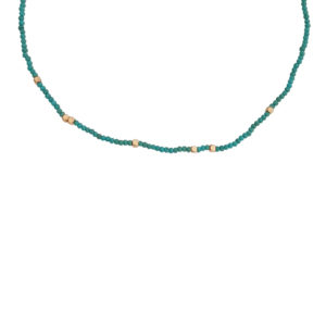 Makes Me Happy Necklace - turquoise necklace - choker necklace - Manola jewelry