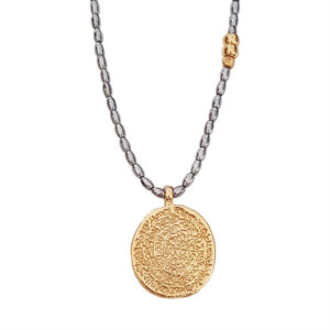 Goddess Necklace - gold coin necklace - greek jewelry - Manola jewelry
