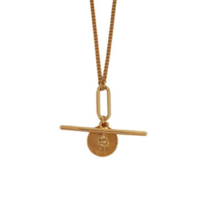 Direct Perception Necklace - gold chain necklace - coin necklace - snake charm necklace - Manola jewelry
