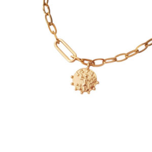 My Play Necklace 1 - coin necklace - gold chain necklace - Manola jewelry