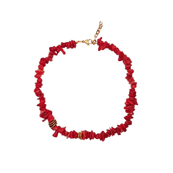 Questione Di Cuore Necklace - red coral necklace - coral necklace - Manola jewelry