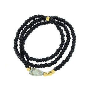 Swingy Black Bracelet - spring summer 2019 statement bracelet - black statement bracelet - jasper bracelet - Manola jewelry