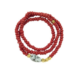 Swingy Coral Bracelet - statement spring summer 2019 bracelet - coral statement bracelet - triple chic bracelet - Manola jewelry