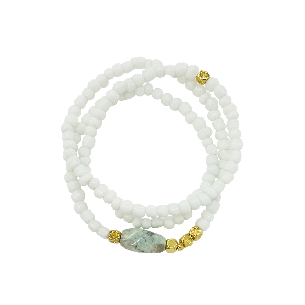 Swingy White Bracelet - statement white bracelet - spring summer 2019 bracelet - italian design jewelry - Manola jewelry