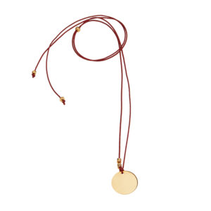 Dance Floor Deep Red Necklace - coin charm necklace - gold coin charm necklace - chic coin necklace - chic jewelry