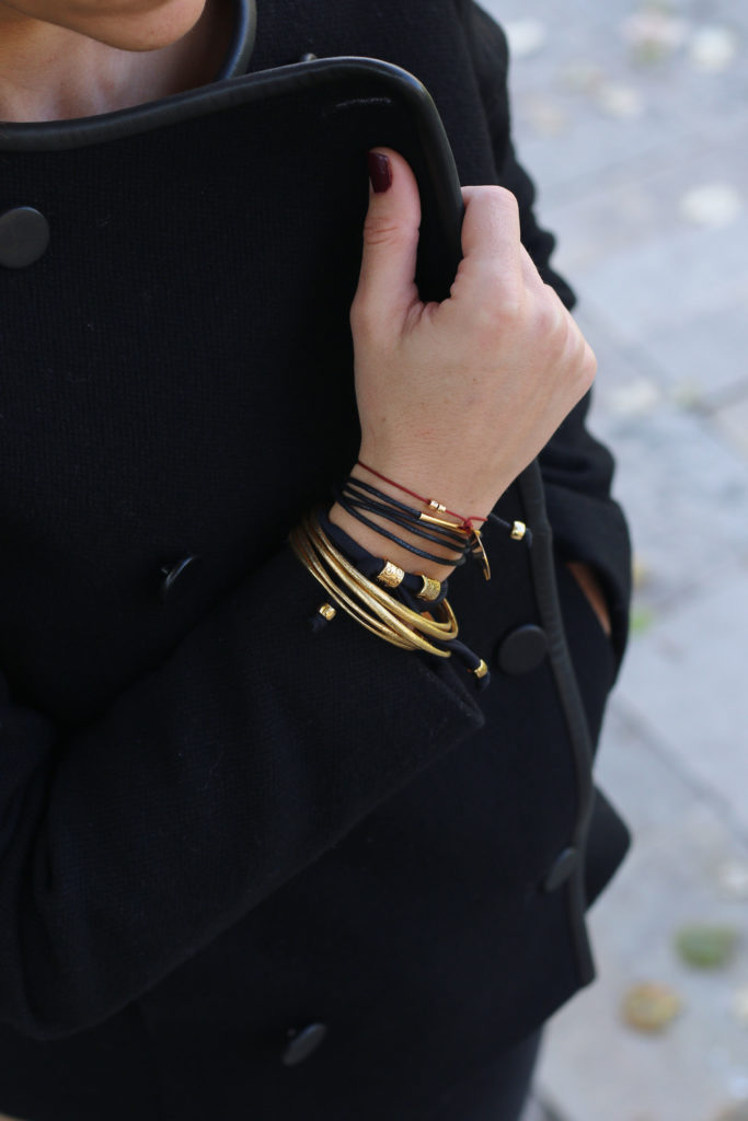 How to stack Manola bracelets - stacking bracelets - chic bracelets - stacking gold bracelets
