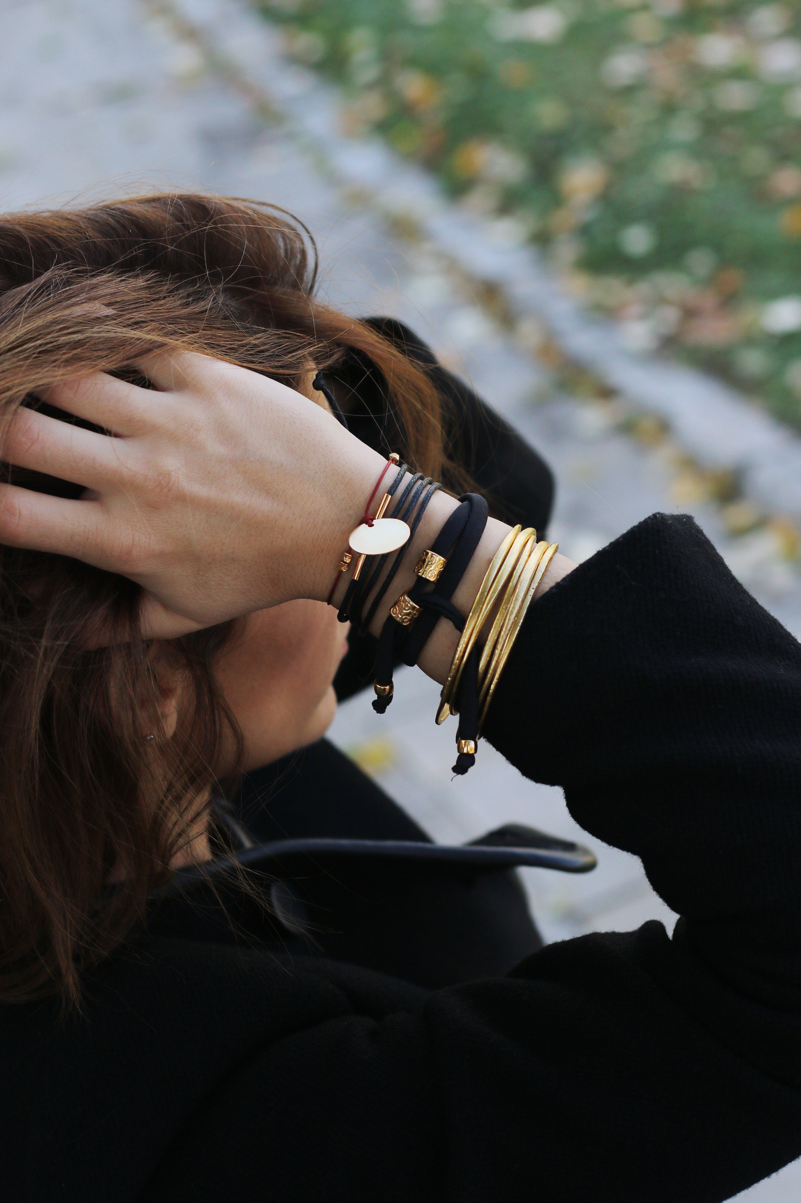 How to Stack Manola bracelet - stack of gold bracelets - unique bracelets - fashion bracelets