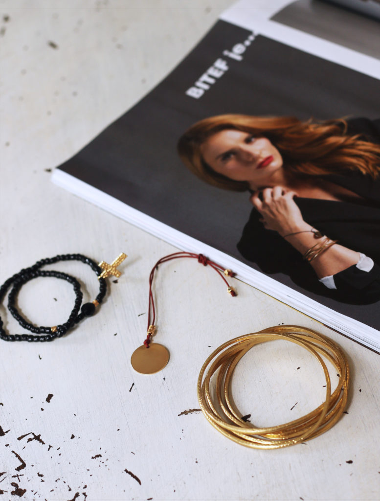 How to Stack Manola Bracelets - stacking bracelets - elle magazine - elle - fashion magazine - stack of bracelets